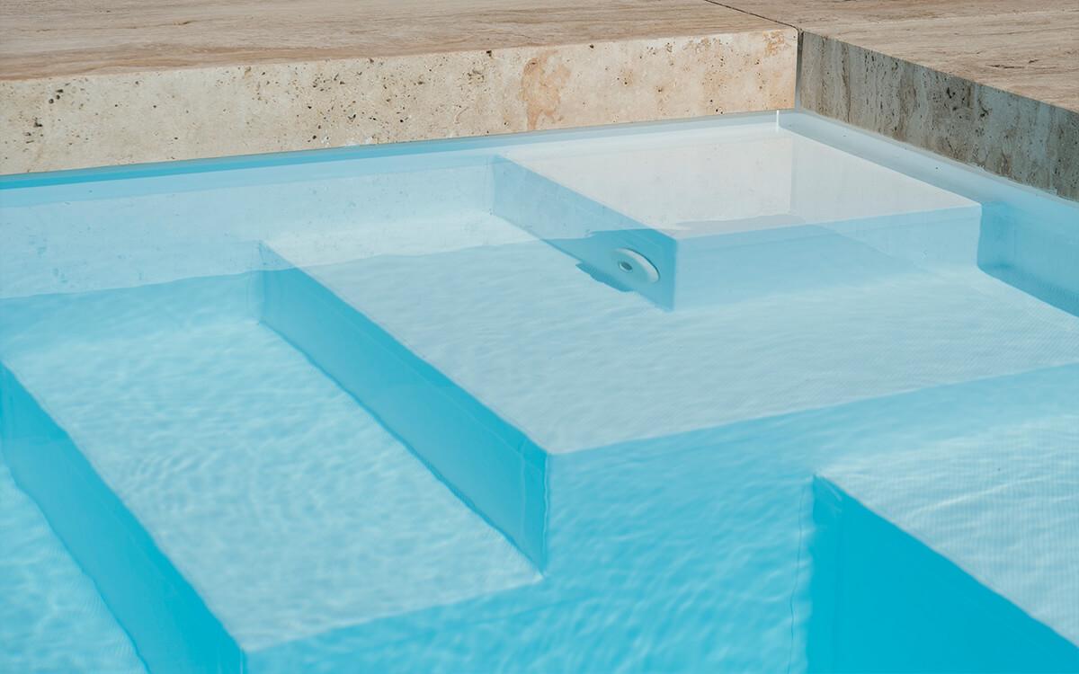 Schwimmbad Sauna Center Schwimmbad Einstiegsformen Stufe